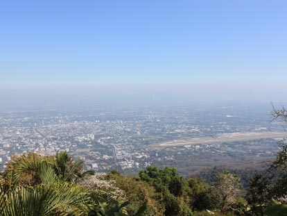 View of Chiang Mai from Doi Suithep Temple