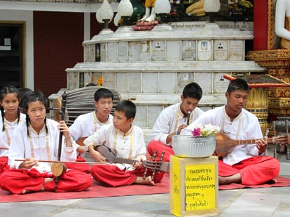 Traditional Thai child musicians