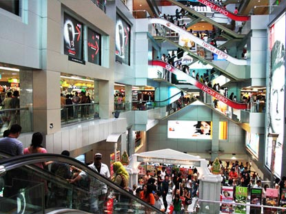 Bangkok City shopping mall and shoppers